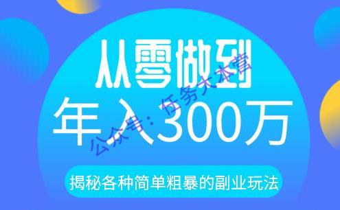 殷斯坦大咖:揭秘各种简单粗暴的副业玩法,从零做到年入300万(价值3888元)